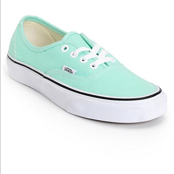 Vans Shoes | Vans Mint Green Authentic